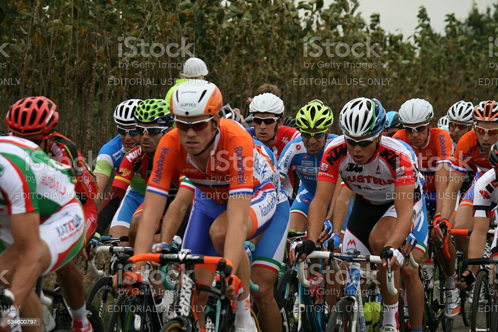 Professional sporters in action. stock photo