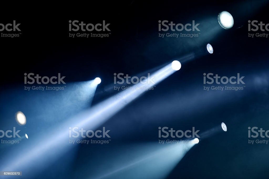 Professional stage lights stock photo