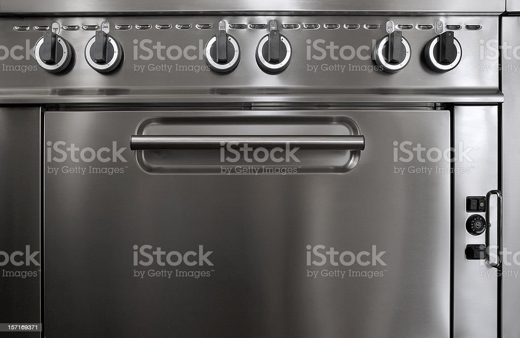 Professional stove. royalty-free stock photo