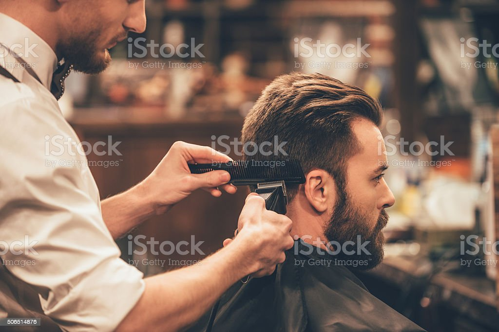 Professional styling. stock photo
