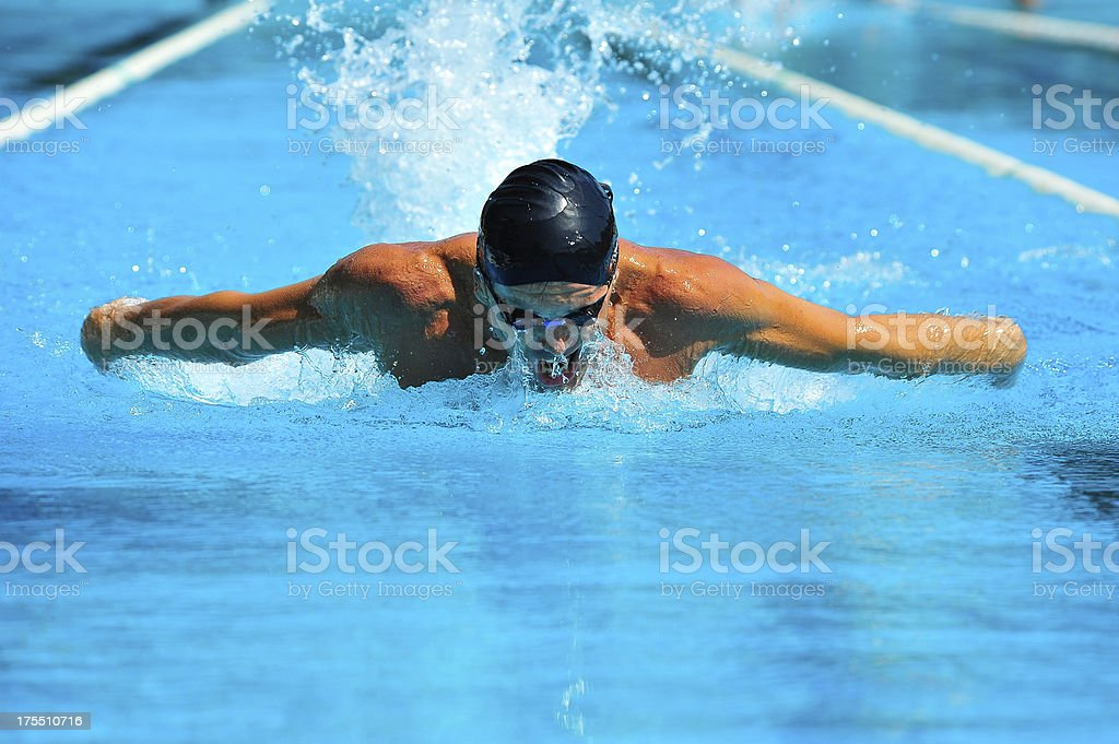 Professional swimmer royalty-free stock photo