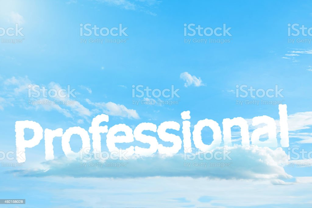 Professional text cloud stock photo