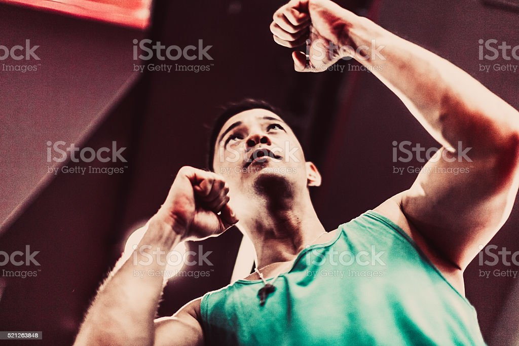 Professional Trainer at a Gym stock photo