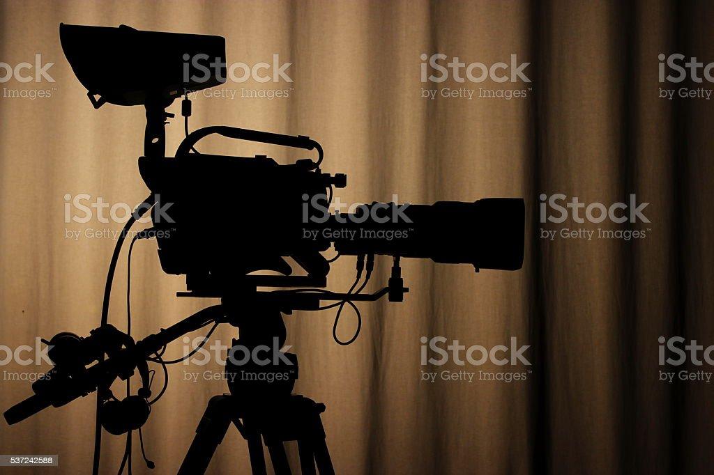 Professional TV CAM stock photo
