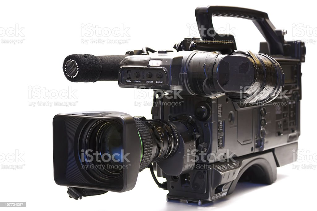 Professional tv camera stock photo