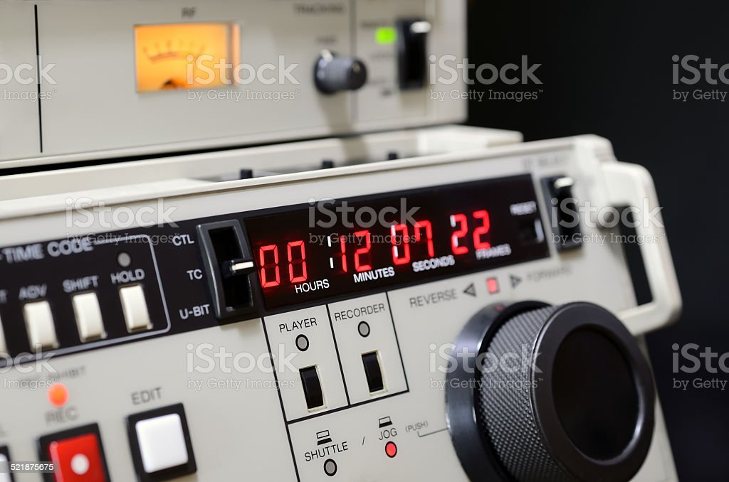 professional video recorder stock photo