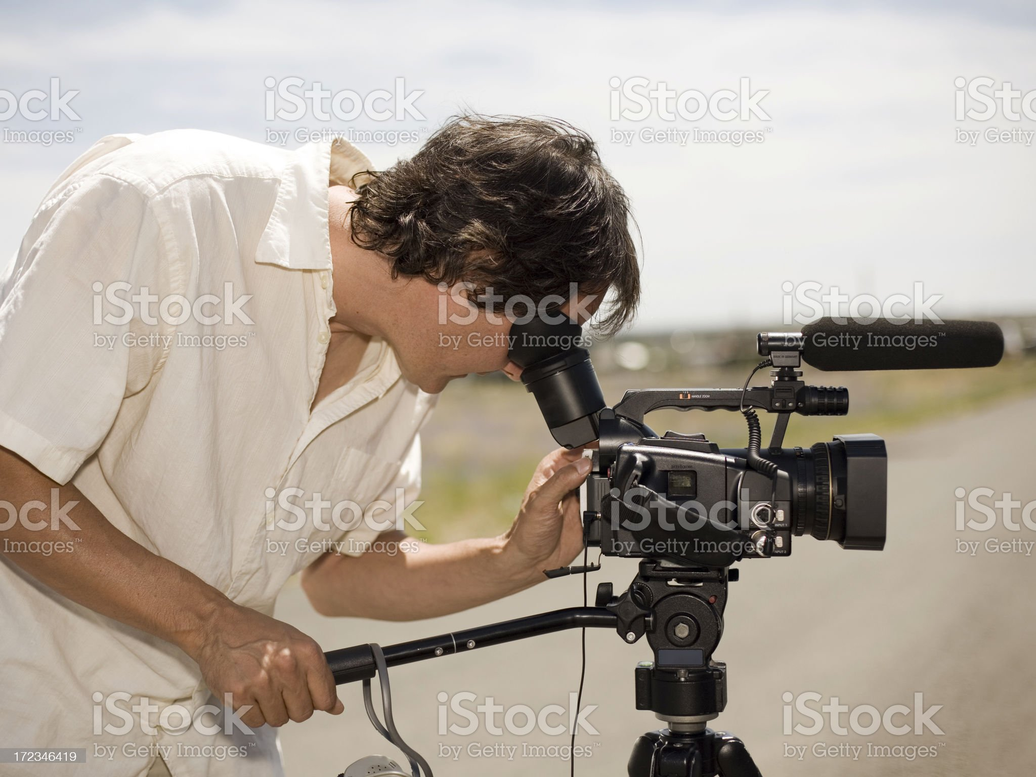 Professional Videographer royalty-free stock photo