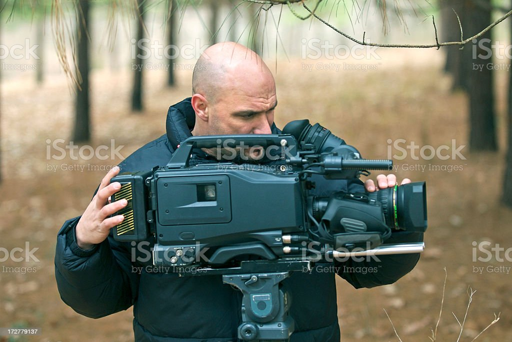 Professional Videographer stock photo
