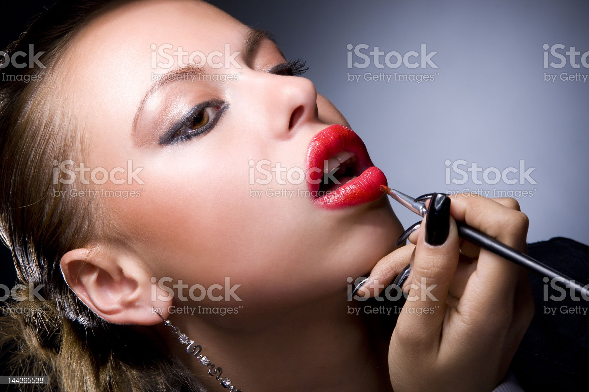 professional visagiste #1 royalty-free stock photo
