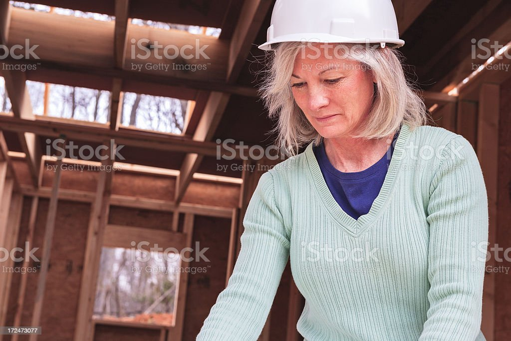 Professional woman at construction site royalty-free stock photo