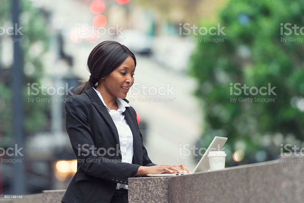 Professional woman in San Francisco stock photo