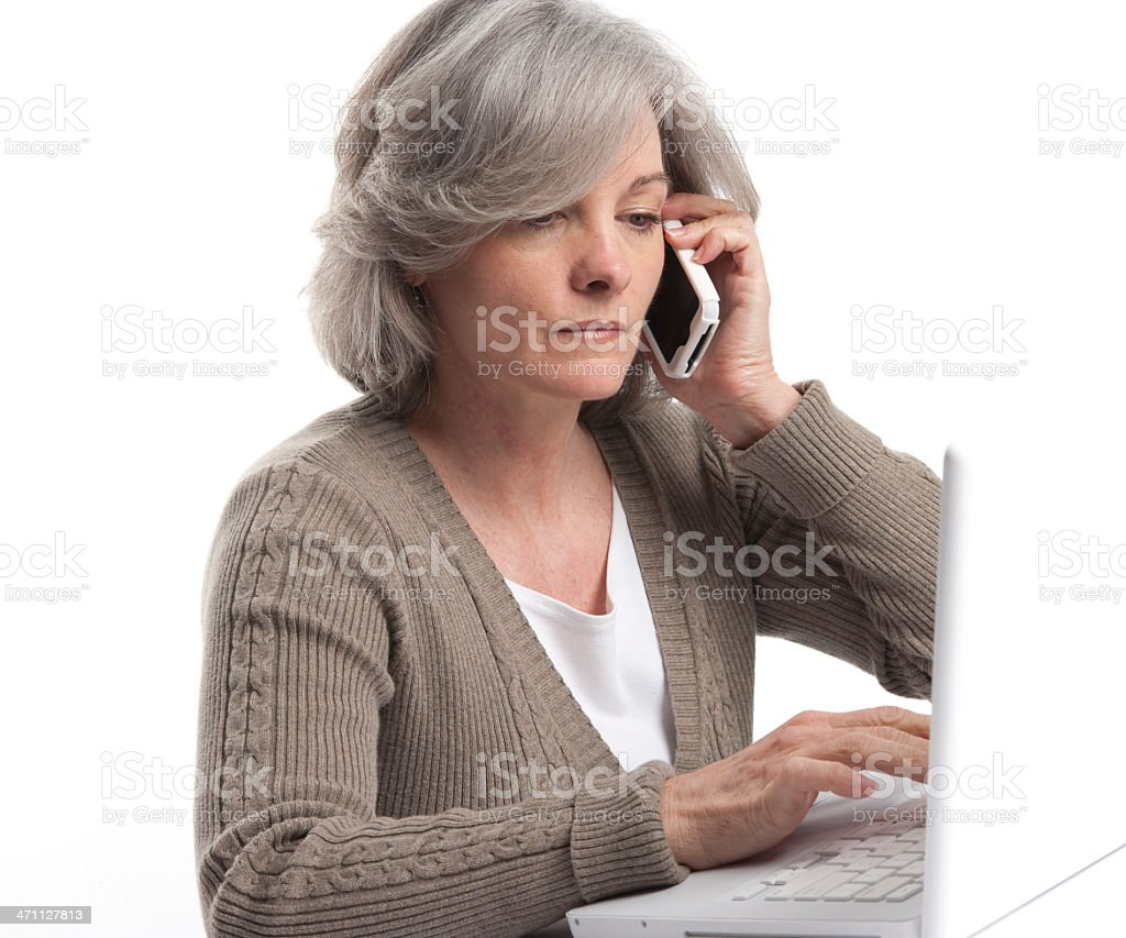 Professional Woman On The Phone royalty-free stock photo