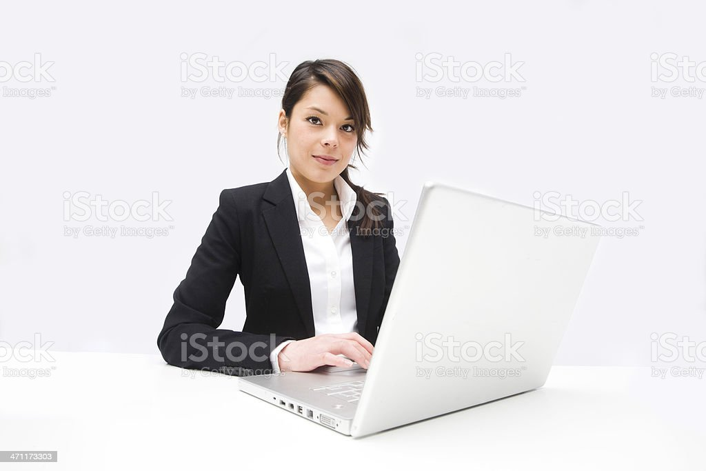 Professional woman with laptop royalty-free stock photo