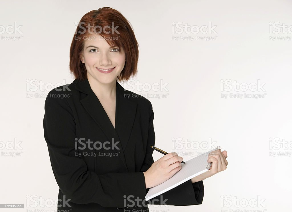 Professional Woman With Note Pad royalty-free stock photo