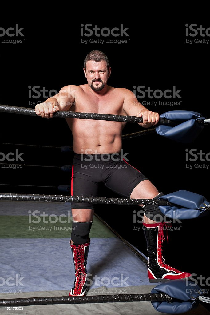 professional wrestler stock photo