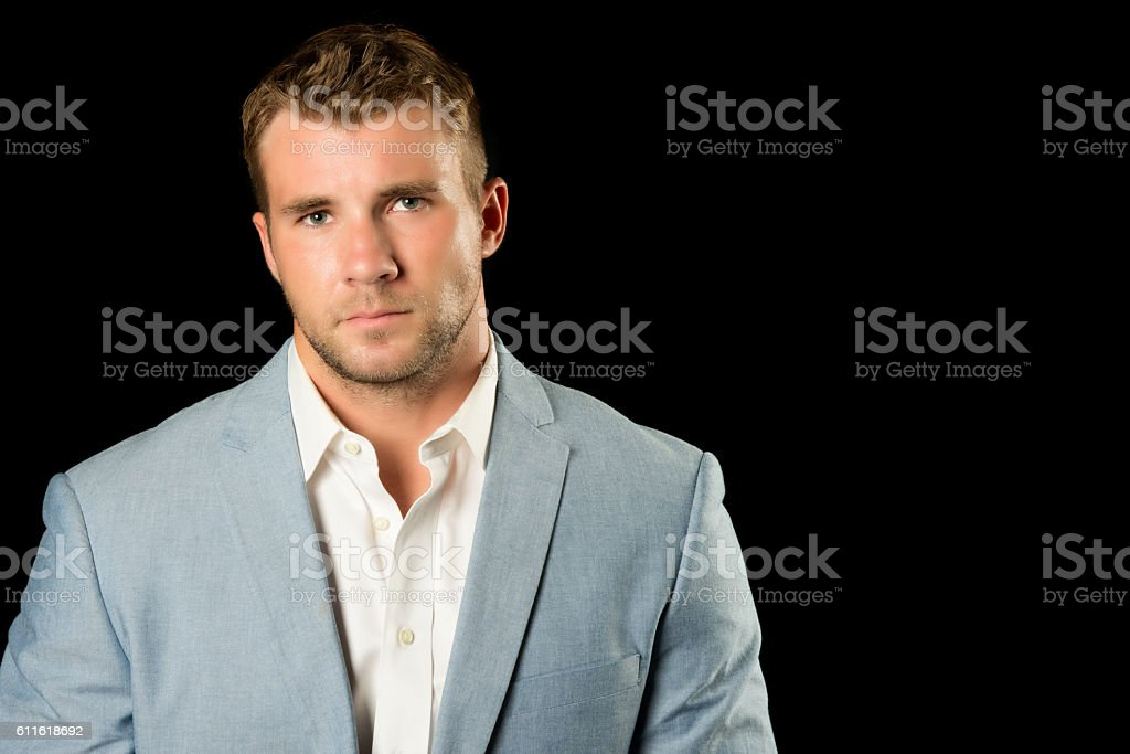 Professional Young Man With Serious Expression stock photo