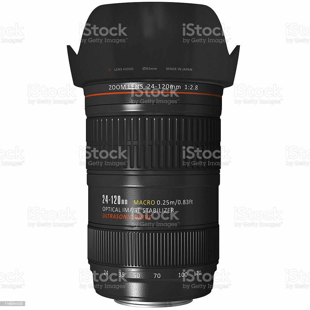 Professional zoom lens royalty-free stock photo