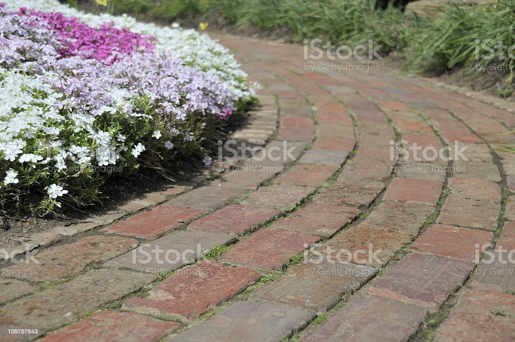 Professionally Landscaped Garden Path royalty-free stock photo