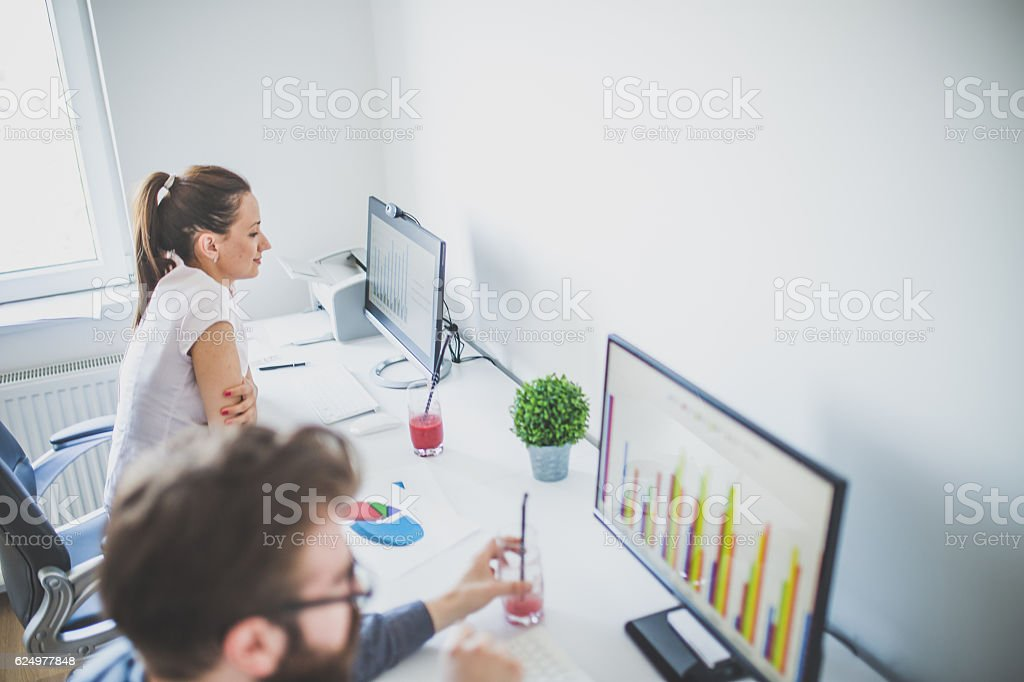 Professionals at work stock photo