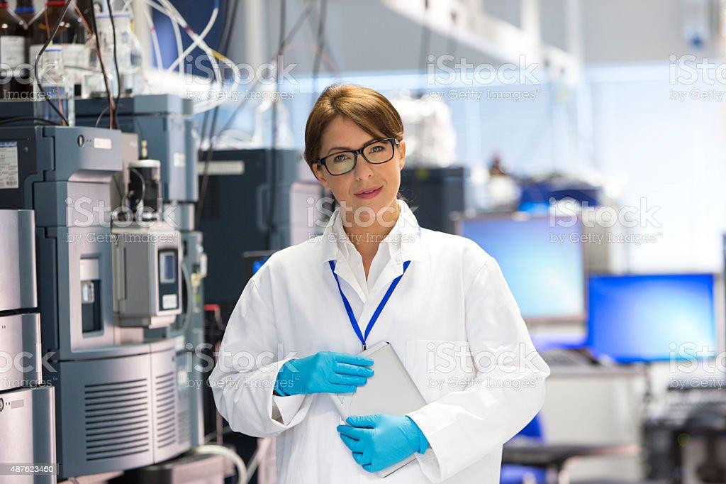 Professionals Female in Lab with Specialist Scientific Equipment stock photo