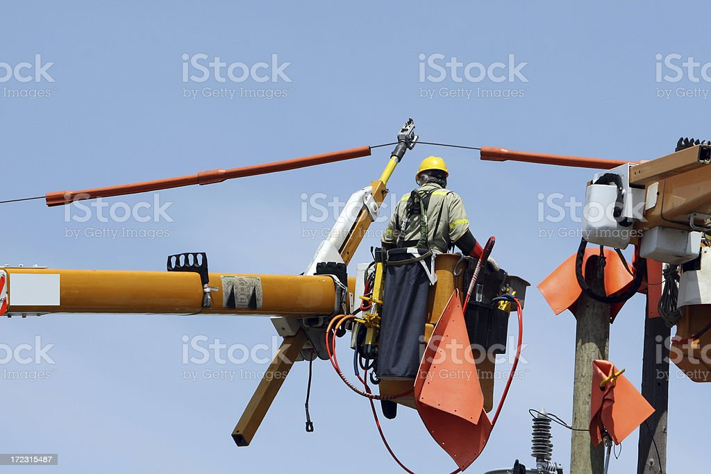 Profession,electrician royalty-free stock photo