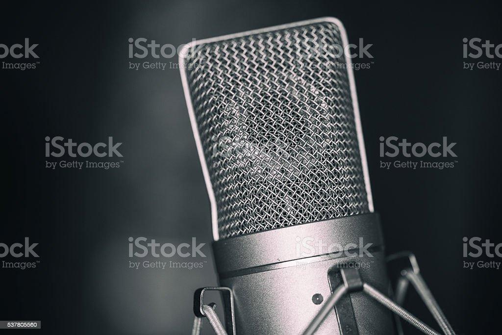 Professionelles Mikrofon stock photo