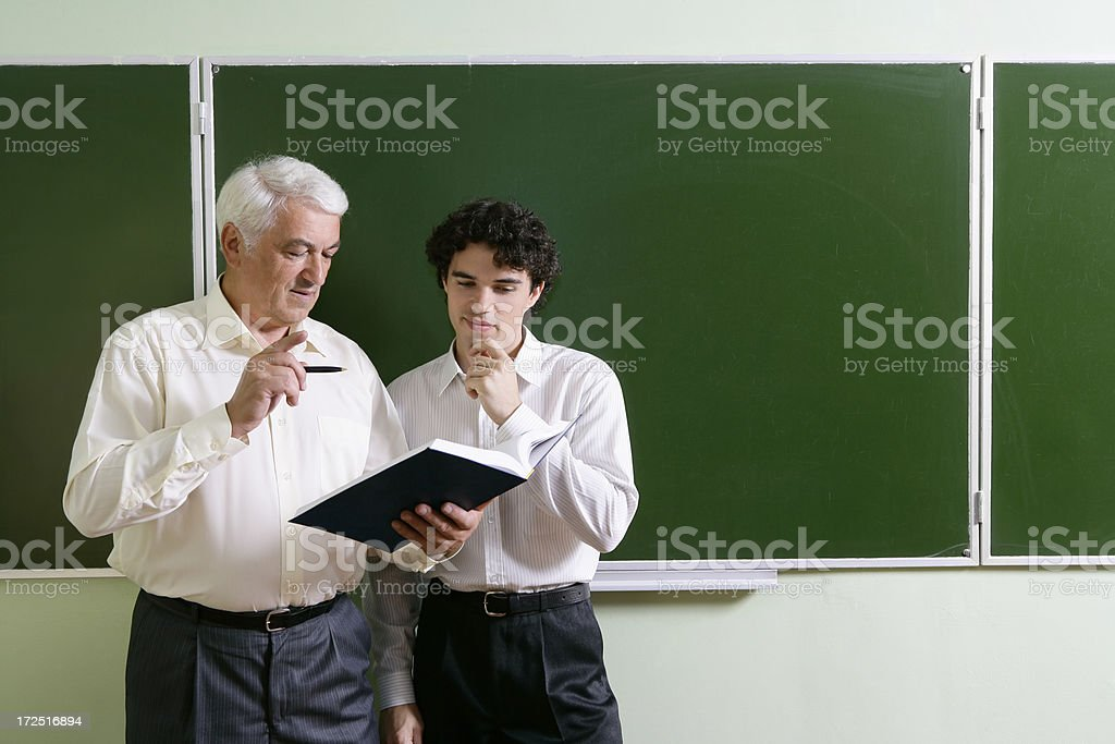 Professor and student royalty-free stock photo