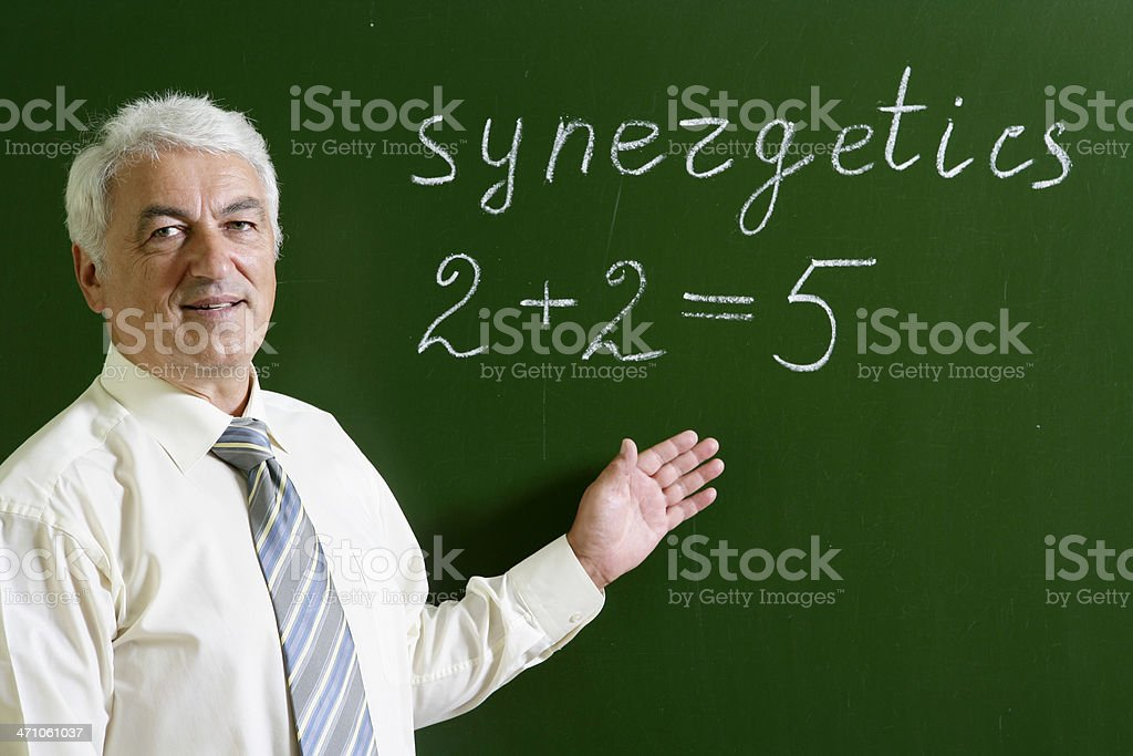 Professor at the blackboard royalty-free stock photo
