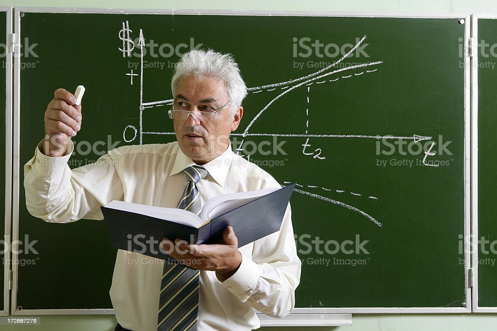 Professor in action royalty-free stock photo