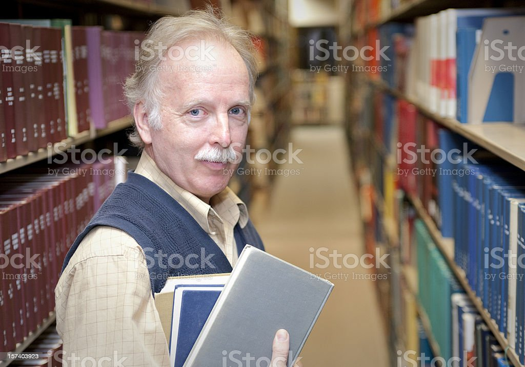 Professor in the Library royalty-free stock photo