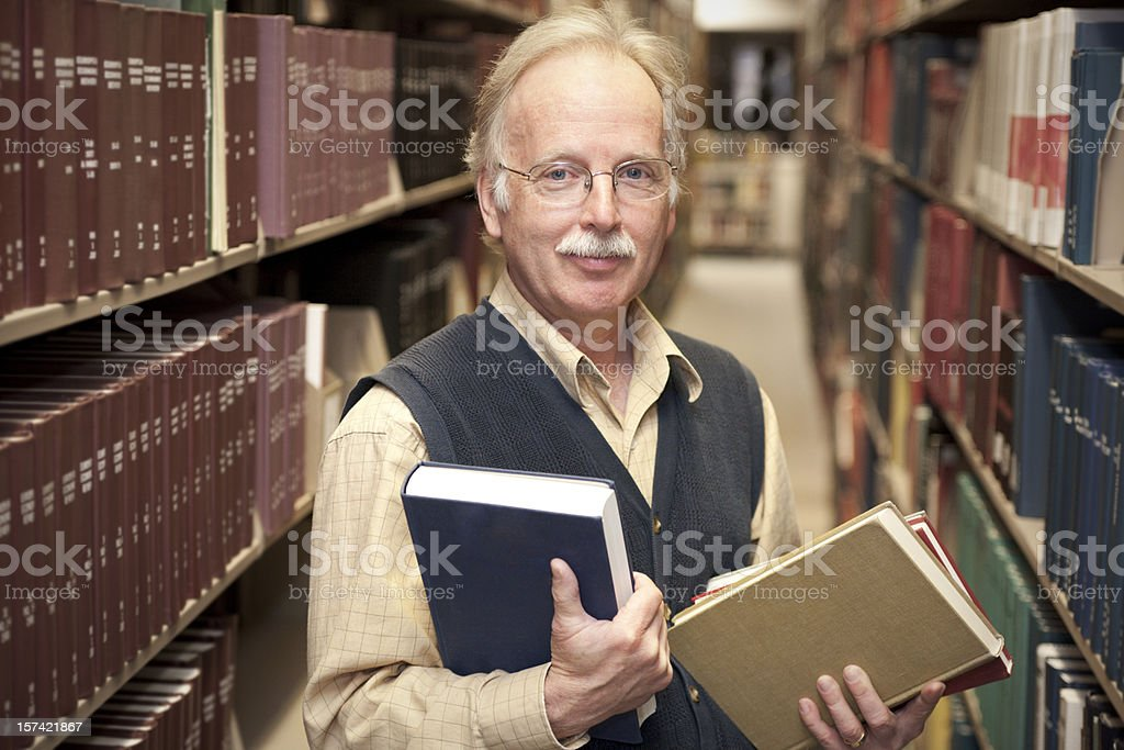 Professor in the Library (XXL) stock photo
