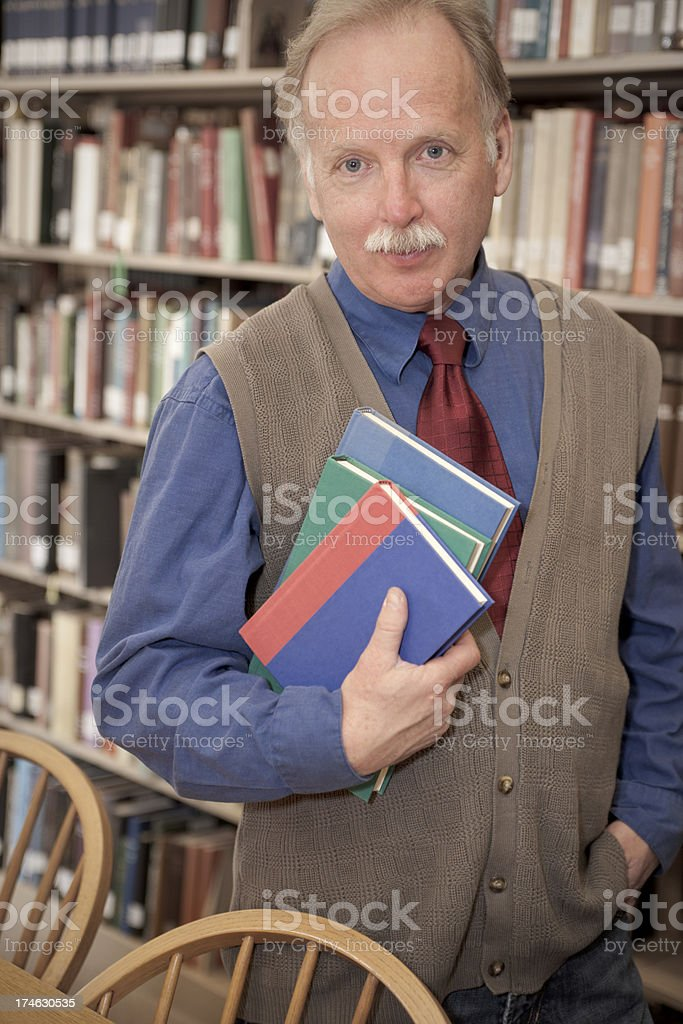 Professor in the Library (XXL) royalty-free stock photo