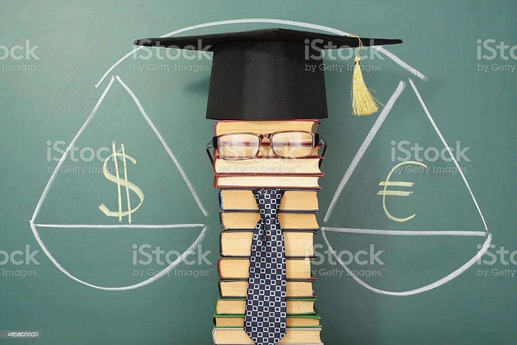 Professor of economics stock photo