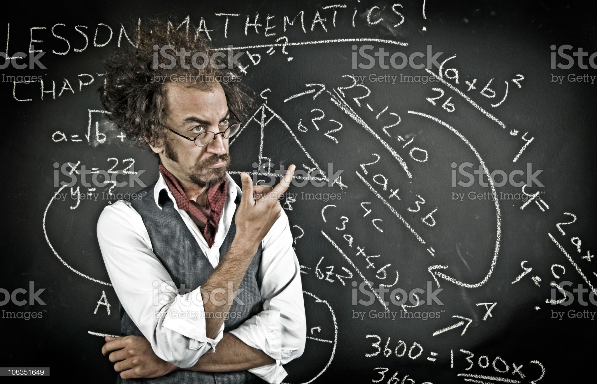 professor of mathematics royalty-free stock photo