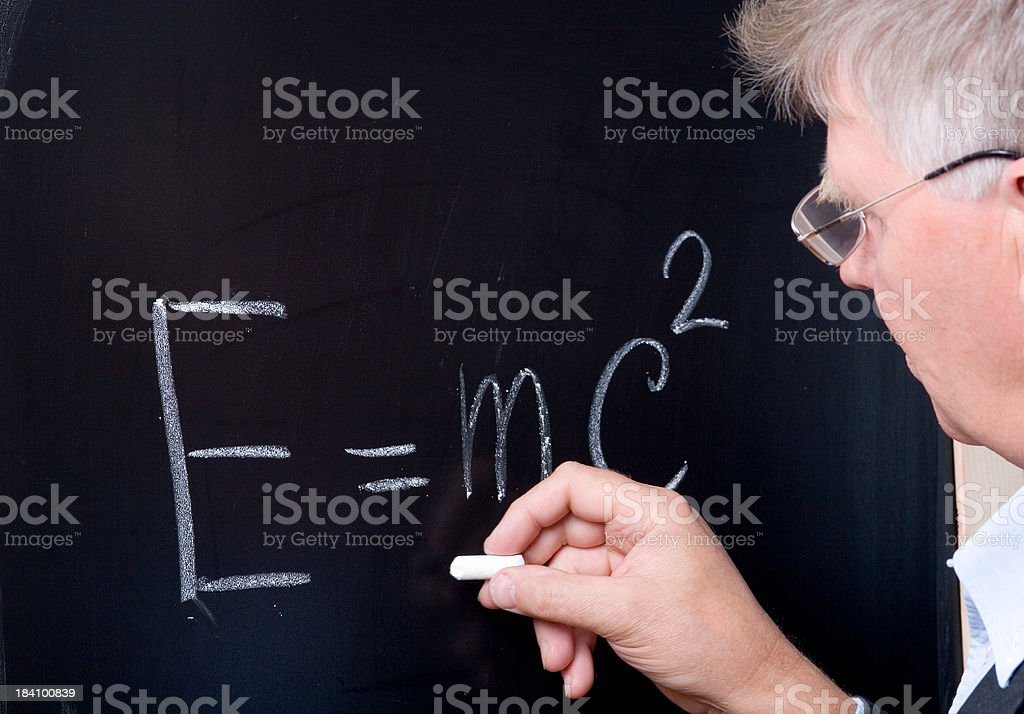 Professor of physics royalty-free stock photo