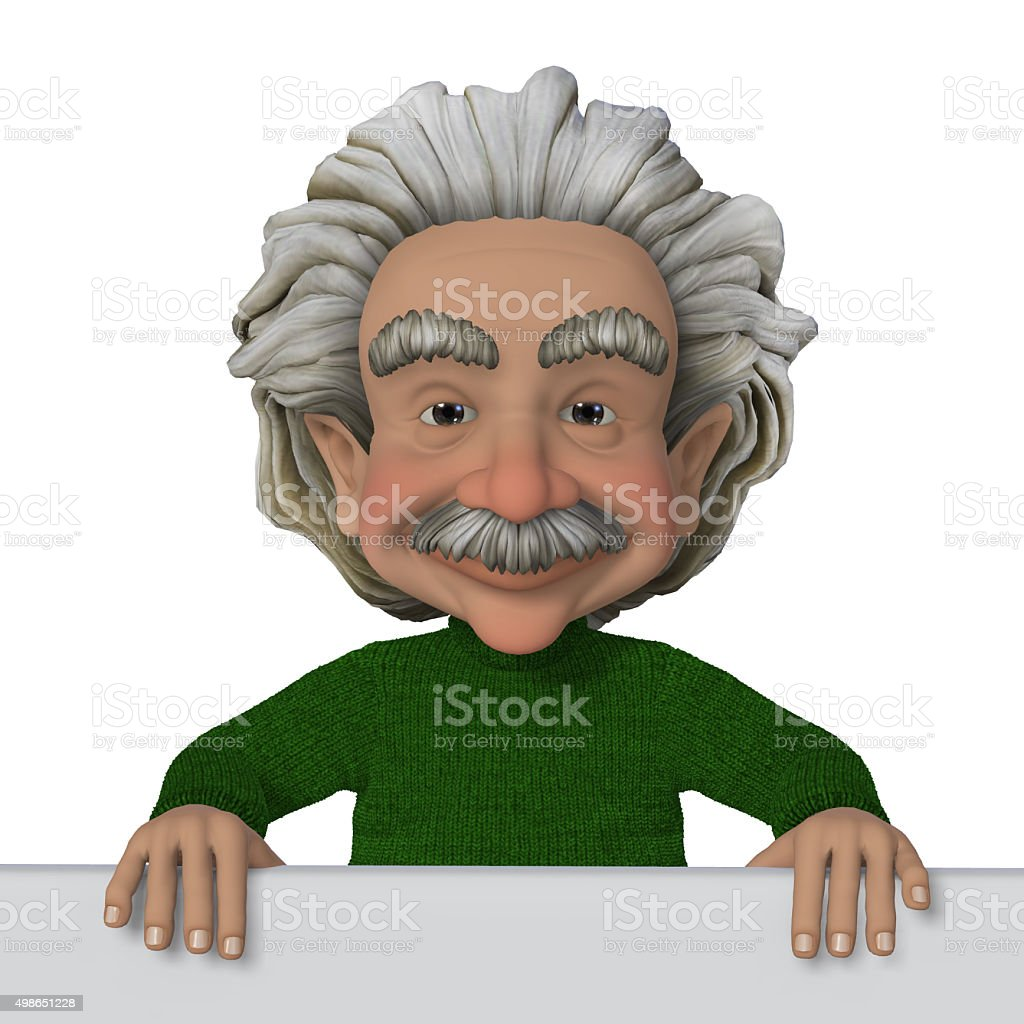 Professor, scientist vector art illustration