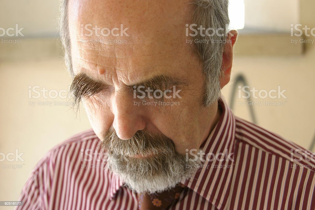 Professor thinking horizontal version royalty-free stock photo