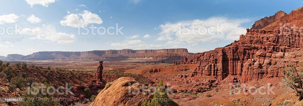Professor Valley, Fisher Towers, Moab, Utah, USA stock photo