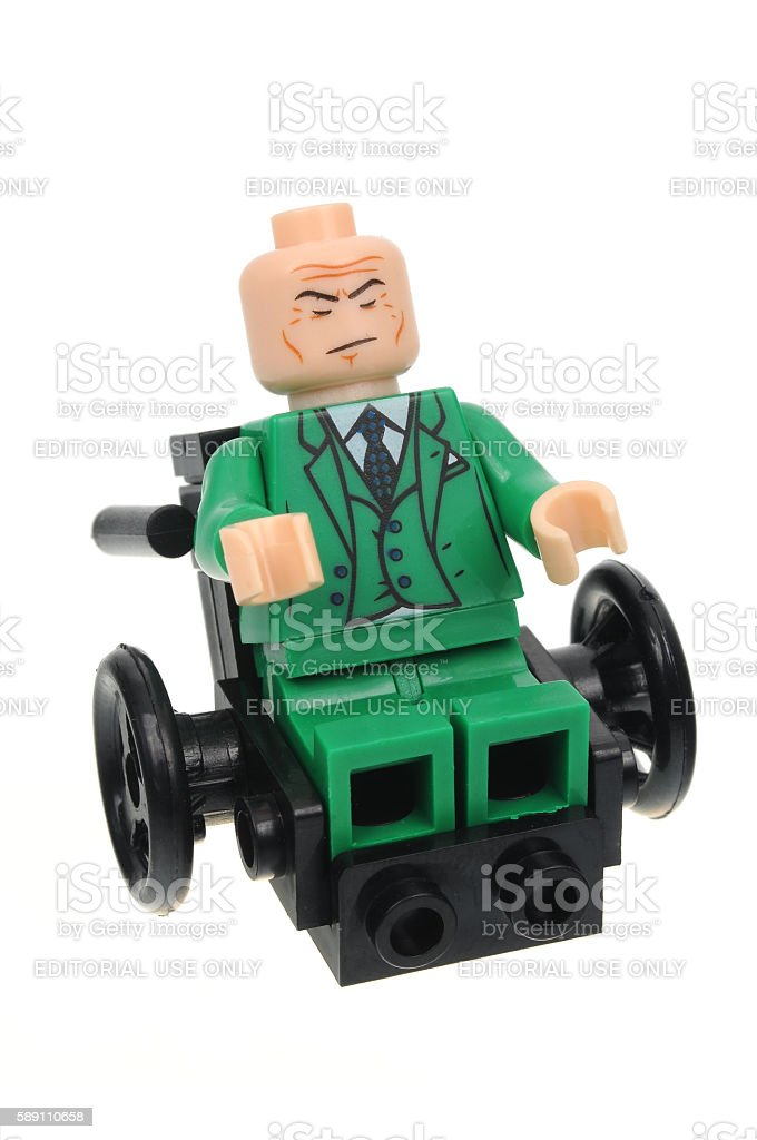 Professor Xavier Lego Minifigure stock photo