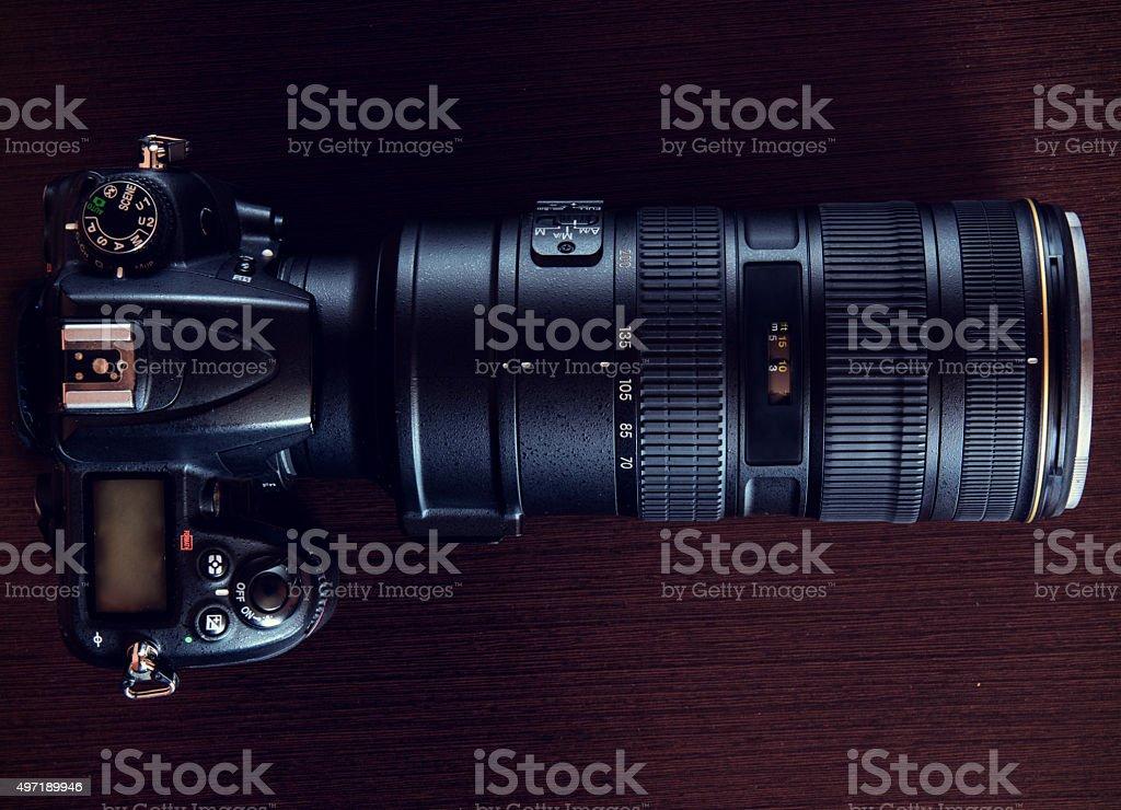Proffesional DSLR camera stock photo