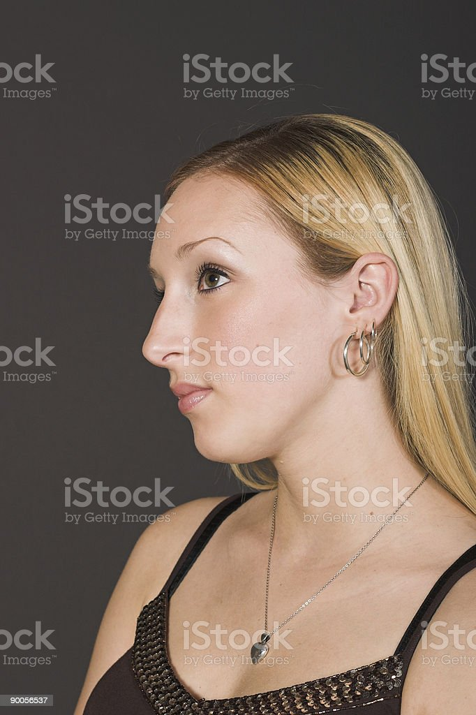 Profile of a classical woman royalty-free stock photo