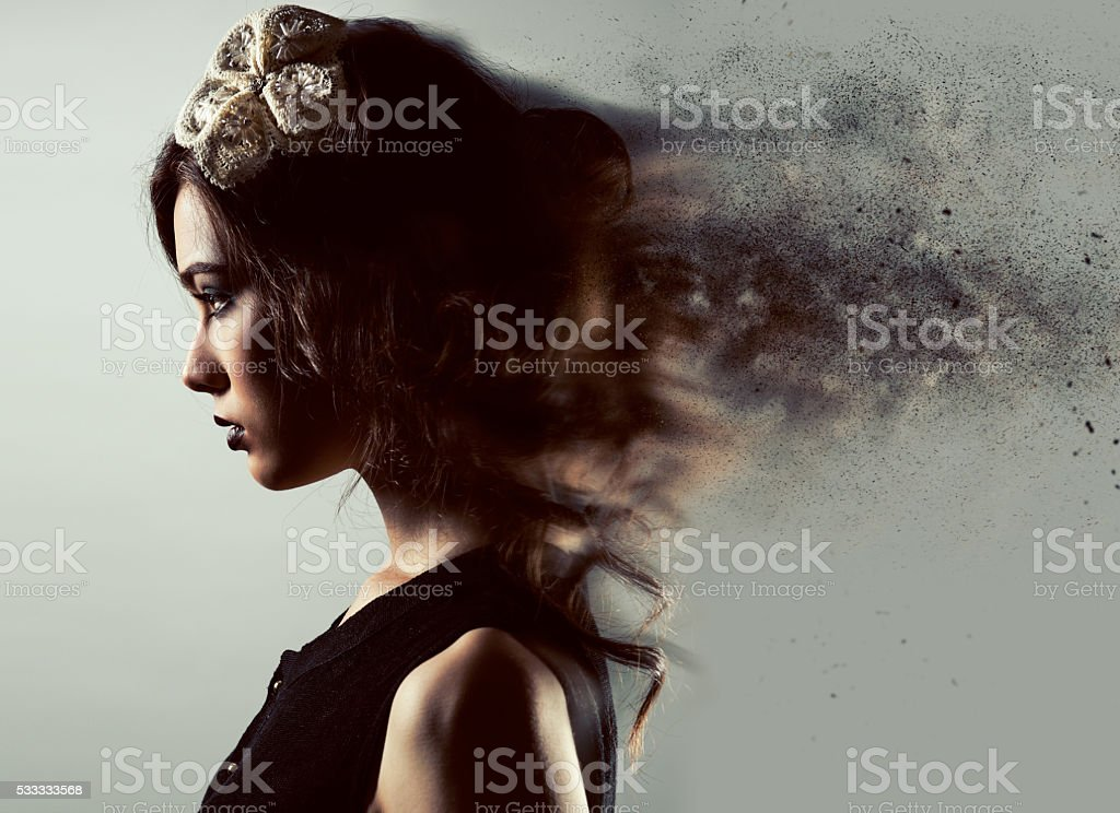 Profile of a gorgeous young lady stock photo