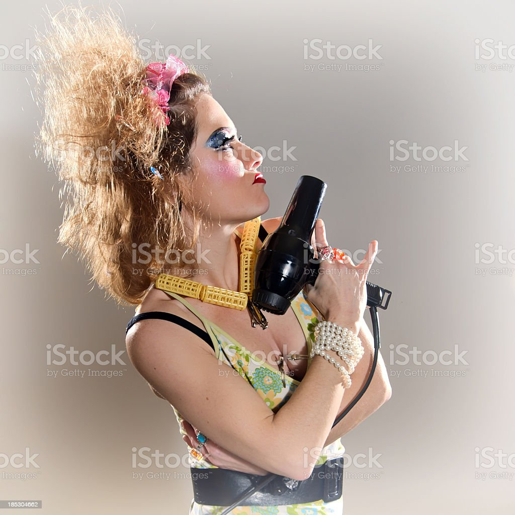 Profile of a hairdresser royalty-free stock photo