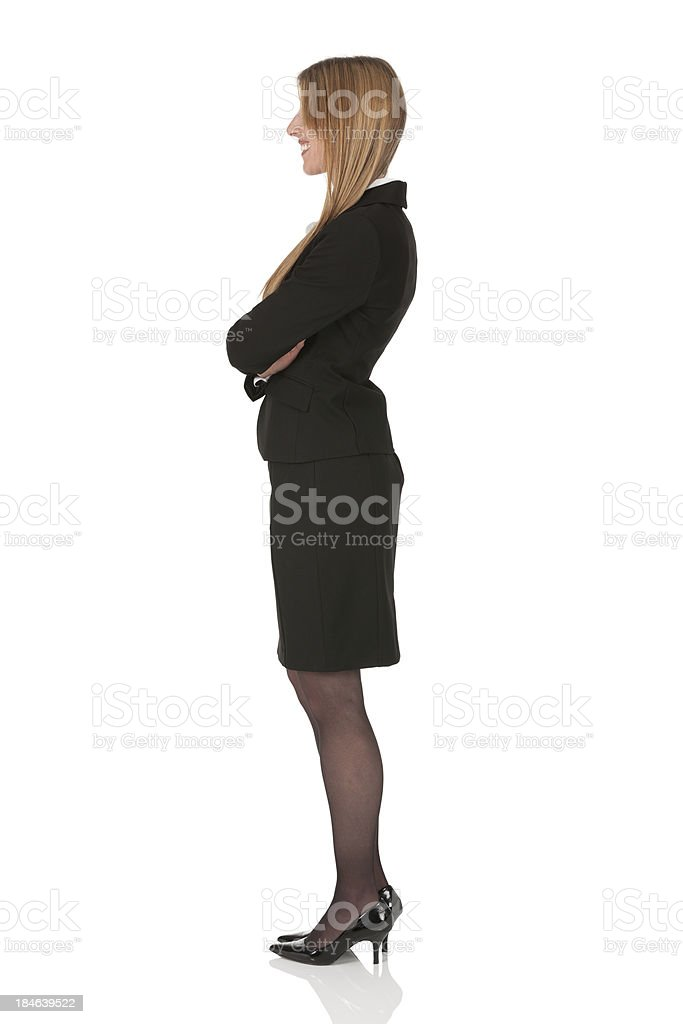 Profile of a happy businesswoman royalty-free stock photo