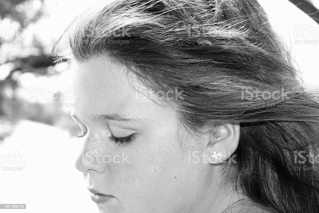 Profile Of A Kid royalty-free stock photo