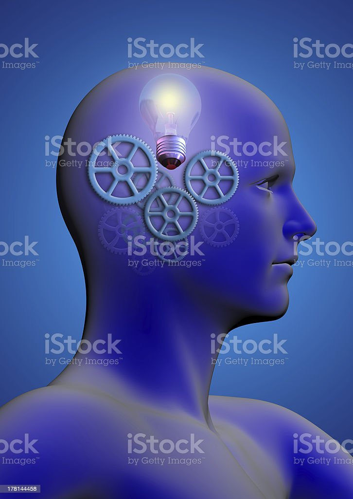 profile of a man royalty-free stock photo