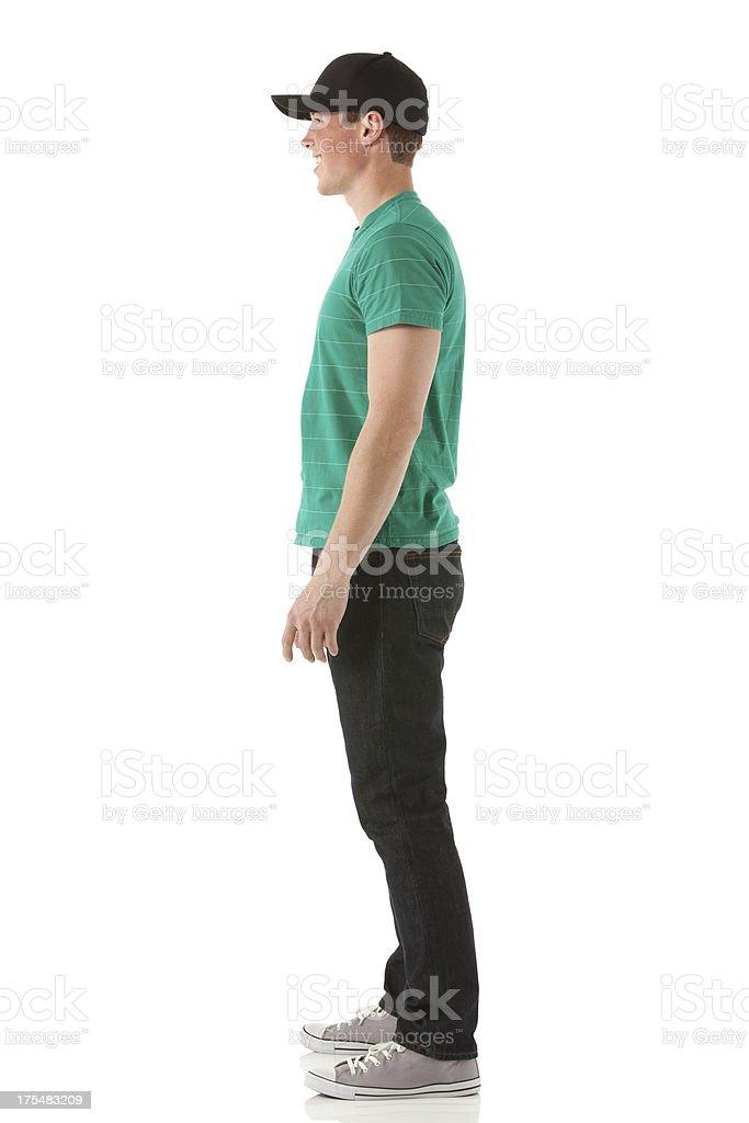 Profile of a man posing stock photo
