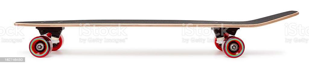 Profile of a Skateboard on White stock photo