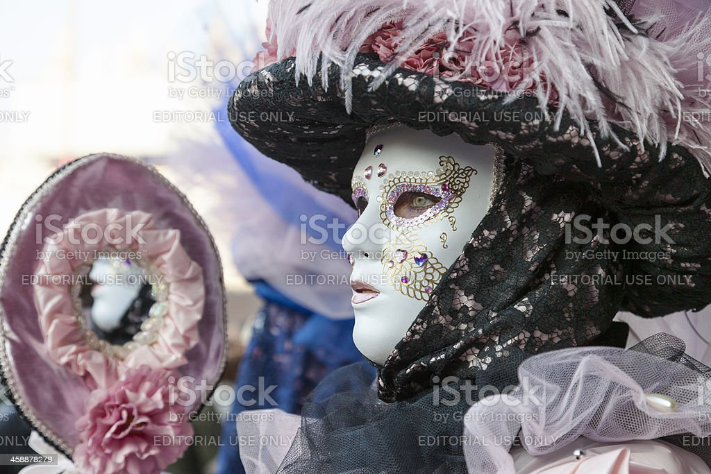 Profile of a Venetian Mask royalty-free stock photo