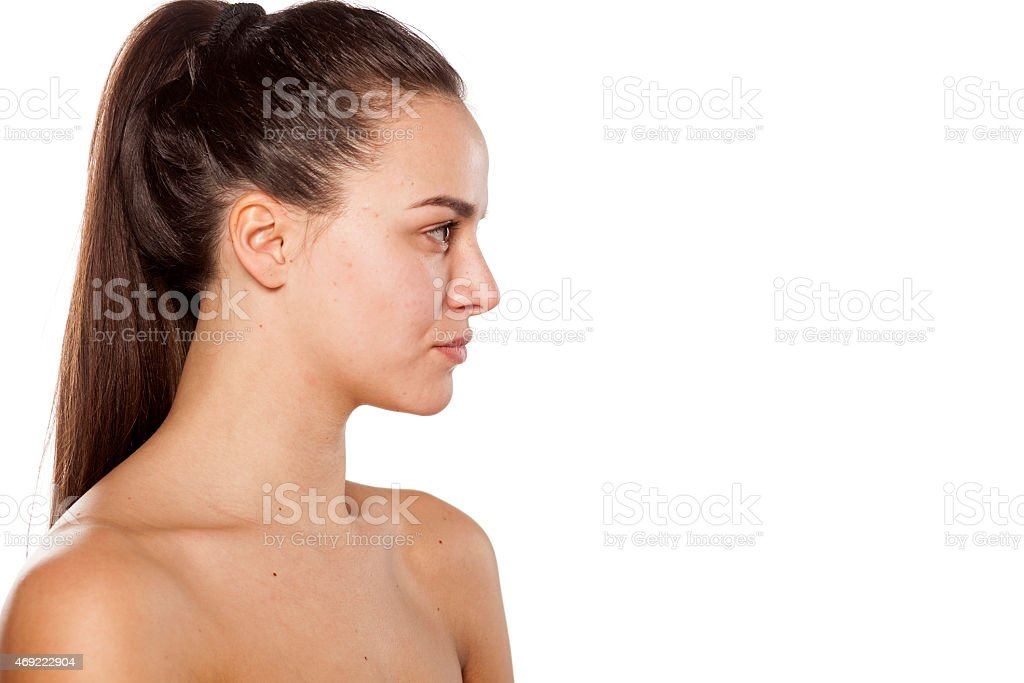 Profile of a woman stock photo